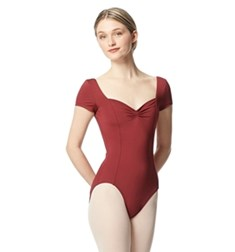 Women Short Sleeve Tactel Dance Leotard Anfisa