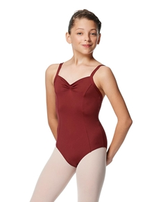 Girls Pinch Front Tactel Camisole Leotard Darya