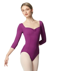 Women Pinch Front Leotard Alla