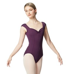 Women Princess Seam Cap Sleeve Tactel Leotard Clover