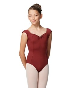 Girls Princess Seam Cap Sleeve Tactel Leotard Clover