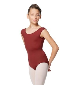 Girls cap Sleeve V Back Dance Leotard Indigo