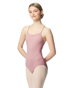 Women Mesh Yoke Camisole Dance Leotard Zinauda