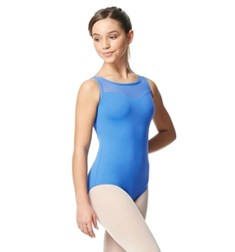 Girls Mesh Yoke Tank Dance Leotard Toma