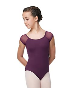 Girls Cap Sleeve Leotard Bronya