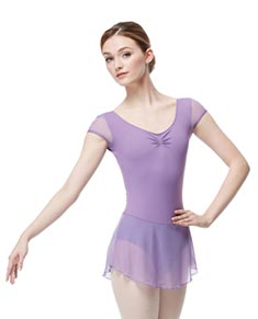 Cap Sleeve Dressed Leotard Sofya