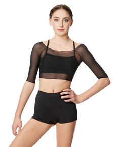 Women Mesh Cropped Top Isla