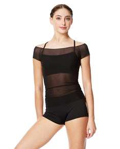 Mesh Cup Sleeve Top Brianna