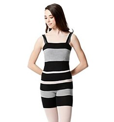 Knitted  Striped Camisole Warm Up Biketard