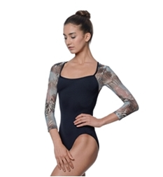 Vanessa Printed Long Sleeve Leotard