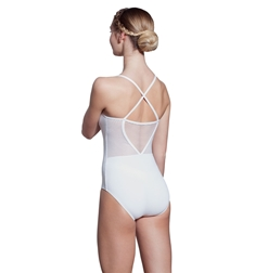 Simone Camisole Striped Mesh Leotard