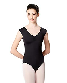 Cap Sleeves Leotard Annalisa