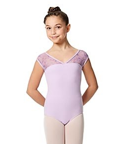 Girls Cap Sleeve Leotard Lina
