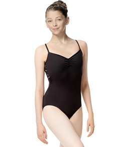 Girls Geo Mesh Camisole Leotard Amanda