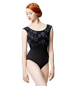 Women Colored Lace Cap Sleeve Leotard Delmar