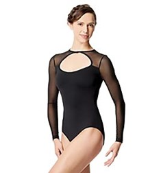 Women Mesh Long Sleeve Dance Leotard Simona