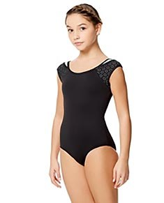Girls Laser Cut Two Color Tank Leotard Lalia