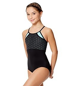 Girls Laser Cut Two Color Camisole Leotard Inez