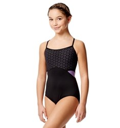 Girls Laser Cut Two Color Camisole Leotard Katia