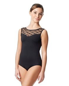 Tween Mesh Yoke Cap Sleeve Leotard Jessamyn