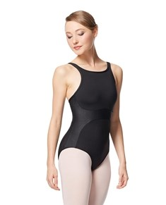 Embossed Faux Leather Camisole Leotard Odila