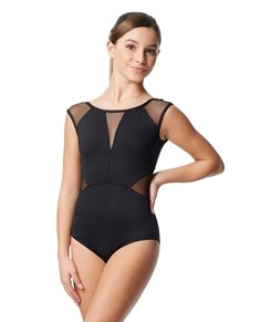 Girls Lace Mesh Cap Sleeve Dance Leotard Avon